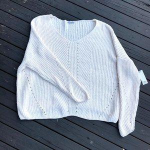 DEX Plus Size New Chenille V Neck Sweater